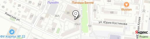 Сандживани на карте Калининграда
