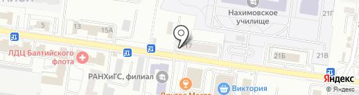Военная комендатура на карте Калининграда