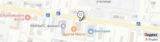 Артиллерийский на карте Калининграда