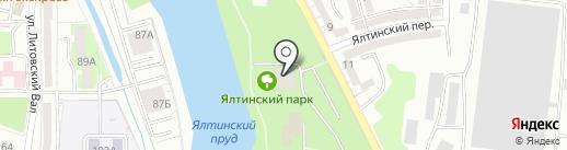 Миэль на карте Калининграда