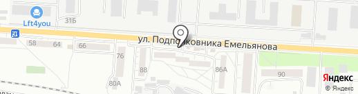Шкатулка на карте Калининграда