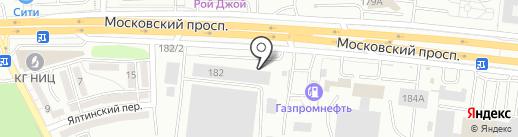 Янтарь на карте Калининграда
