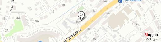 Димар на карте Калининграда