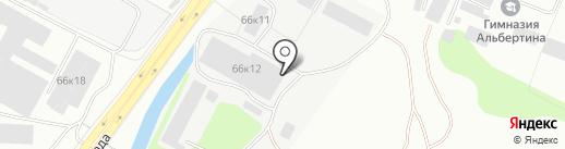 Столарт на карте Калининграда