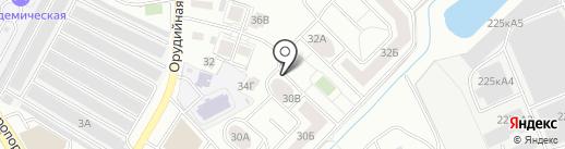 Лепта на карте Калининграда