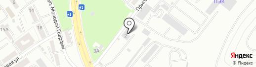 Ремонтно-складской комплекс на карте Калининграда