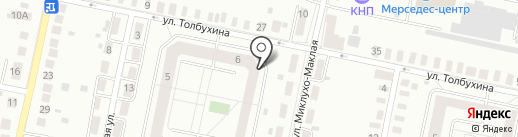 Рисон на карте Калининграда
