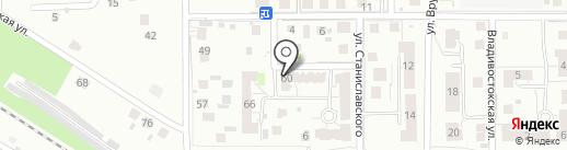 Модуль-Стройград на карте Калининграда