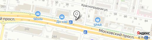 Анюта на карте Калининграда