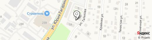 Рекстрой на карте Малого Исаково