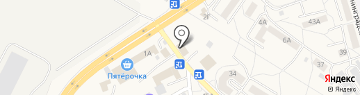 Автомойка на карте Малого Исаково