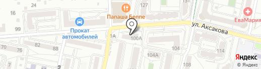 Локон на карте Калининграда