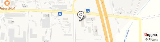 Шина на карте Малого Исаково