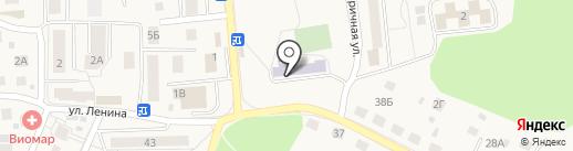 Средняя общеобразовательная школа №1 на карте Гурьевска
