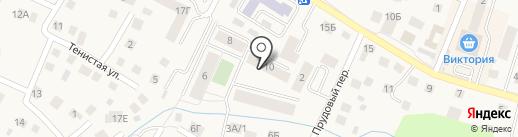 У Ручья на карте Гурьевска