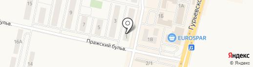 Участковый пункт полиции Гурьевский на карте Гурьевска