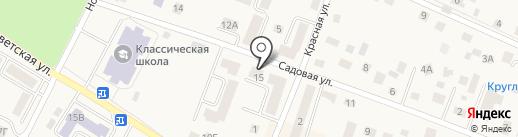 Мясная лавка на карте Гурьевска