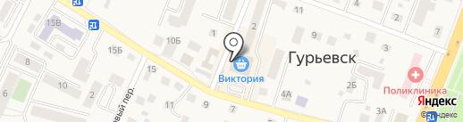 Банкомат, Сбербанк России на карте Гурьевска