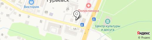Референт на карте Гурьевска