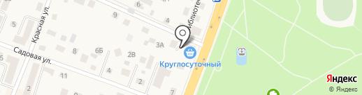 Продовольственный магазин на Калининградском шоссе на карте Гурьевска