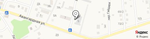Светлый дом на карте Гурьевска