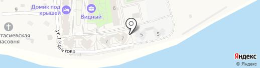 Видный на карте Писковичей