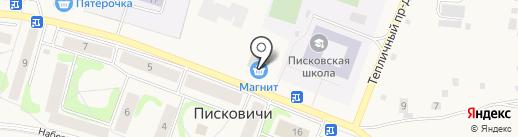 Магазин цветов на карте Писковичей
