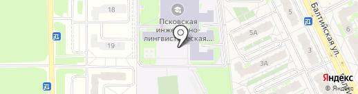 Псковская инженерно-лингвистическая гимназия, МБОУ на карте Борисовичей