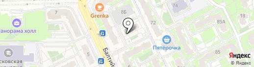 Окна TriO на карте Борисовичей