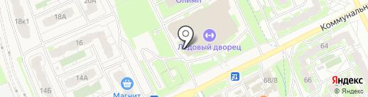 Тренажерный зал в Ледовом Дворце на карте Борисовичей