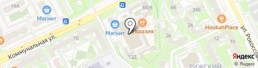 Балтийский на карте Пскова