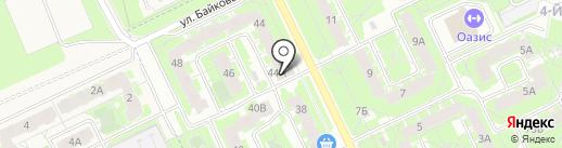 Мозаика на карте Пскова