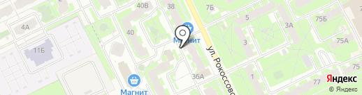 Три Леща на карте Пскова