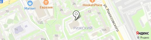 Весна на карте Пскова