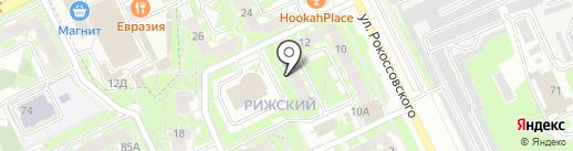 Псковитянка на карте Пскова
