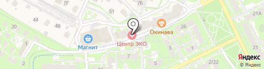 Центр ЭКО на карте Борисовичей