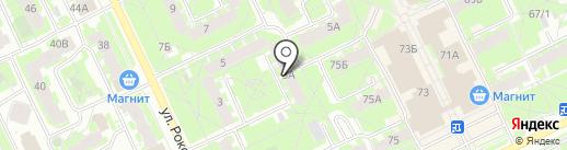 Себор на карте Пскова