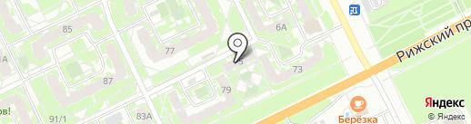 Мила на карте Пскова