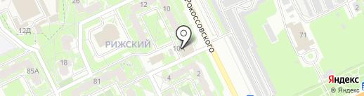 Аквантика на карте Пскова