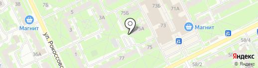 Кристальная капля на карте Пскова