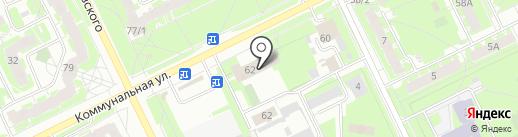 Пожарная часть №1 на карте Пскова