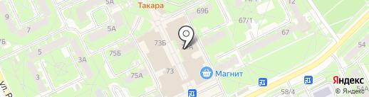 Городской центр занятости населения на карте Пскова