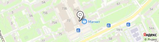 Казанова на карте Пскова