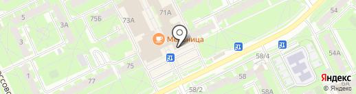 Магазин цветов и подарков на карте Пскова