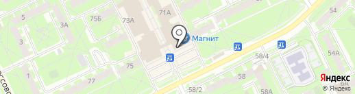 Lakberi на карте Пскова