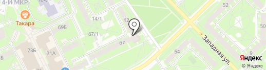 Десятка Завеличье на карте Пскова