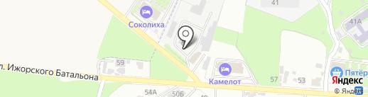 Холц на карте Пскова