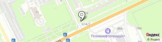 Колобок на карте Пскова