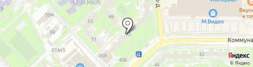 Златовласка на карте Пскова