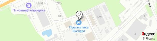 Прагматика на карте Пскова